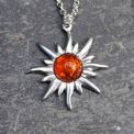 Sun pendant necklace P34